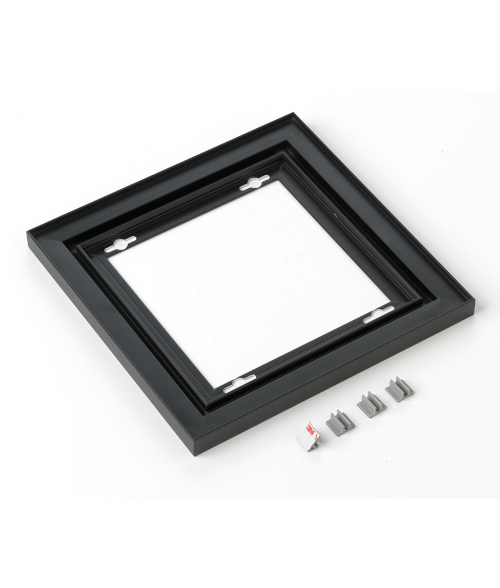 "Rowmark Streamline 100 Nighthawk Black 8"" x 8"" Assembled Metal Frame with 1/16"" Border"