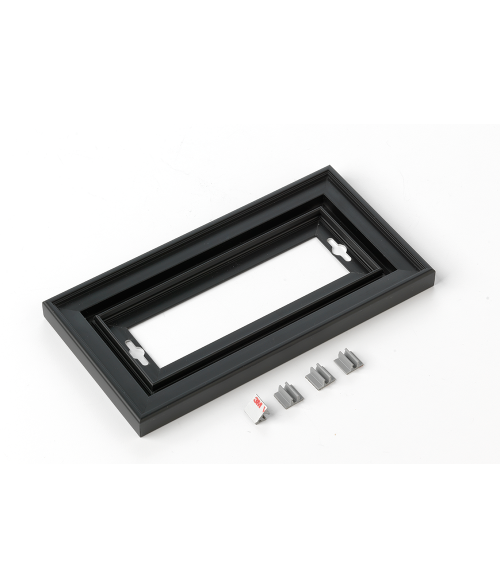 "Rowmark Streamline 200 Nighthawk Black 4"" x 8"" Assembled Metal Frame with 3/16"" Border"