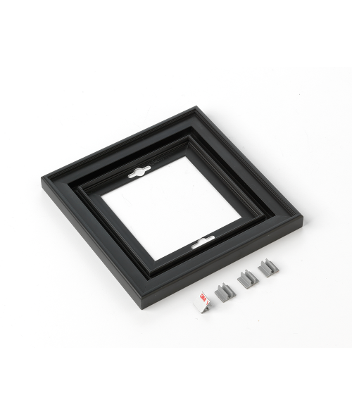 "Rowmark Streamline 200 Nighthawk Black 6"" x 6"" Assembled Metal Frame with 3/16"" Border"