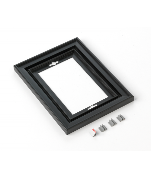 "Rowmark Streamline 200 Nighthawk Black 6"" x 8"" Assembled Metal Frame with 3/16"" Border"