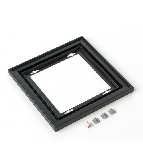 "Rowmark Streamline 200 Nighthawk Black 8"" x 8"" Assembled Metal Frame with 3/16"" Border"