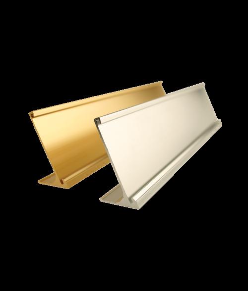 "Rowmark Gold 1-1/2"" x 8"" Desk Holder for 1/16"" Thick Material"