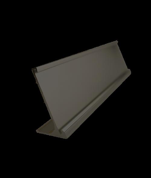 "Rowmark Brushed Black 1-1/2"" x 8"" Desk Holder for 1/16"" Thick Material"