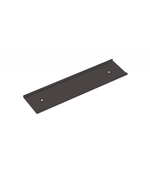 "Rowmark Brushed Black 1-1/2"" x 8"" Wall Holder for 1/16"" Thick Material"