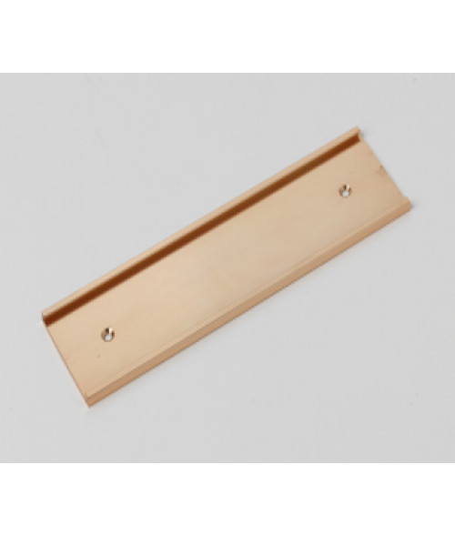 "Rowmark Rose Gold 2"" x 8"" Wall Holder for 1/16"" Thick Material"