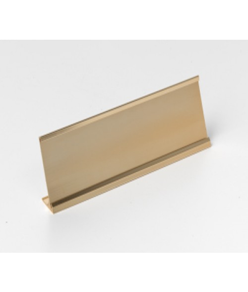 "Rowmark Rose Gold 2"" x 8"" Desk Holder for 1/16"" Thick Material"