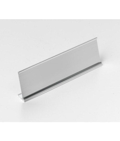 "Rowmark Silver 1-1/2"" x 8"" Desk Holder for 1/16"" Thick Material"