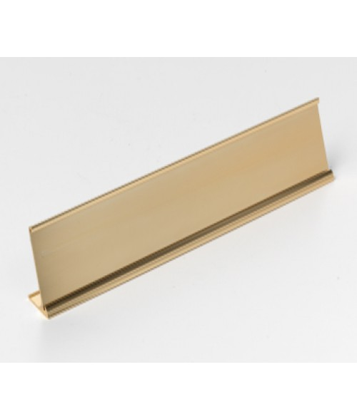 "Rowmark Rose Gold 1-1/2"" x 10"" Desk Holder for 1/16"" Thick Material"