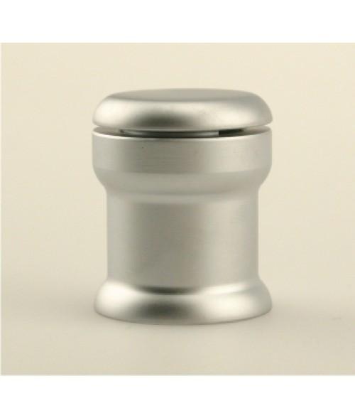 "Rowmark Fisso Corner Satin Silver Edge Gripper (.98"" Diameter .98"" Barrel Length)"