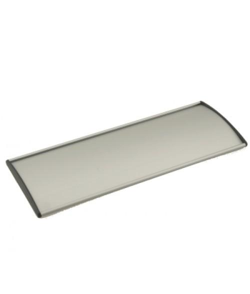 "Rowmark Nouveau Silver 3.1"" x 10"" Curved Frame (Black Endcap)"