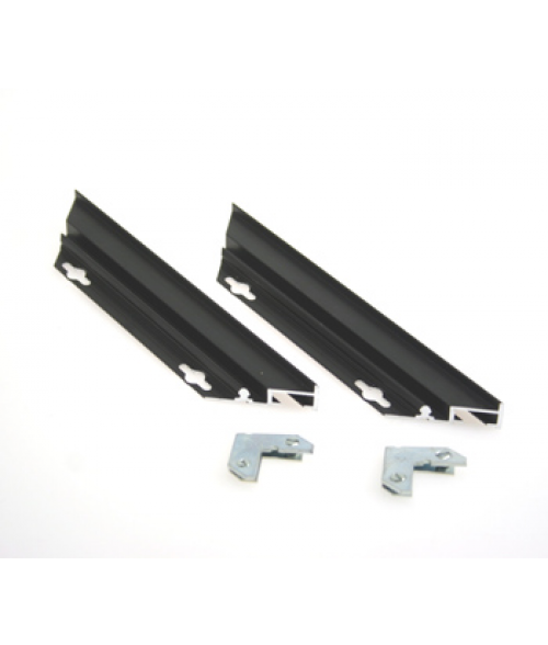 "Rowmark Streamline 100 Nighthawk Black 8"" Customizable Metal Frame Sides with 1/16"" Border (2/Pkg)"