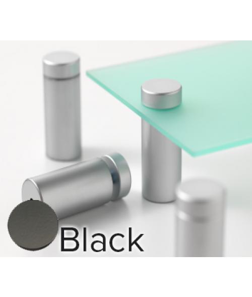 "Rowmark Metro Matte Black Stand-Offs (.98"" Diameter 1.97"" Barrel Length)"