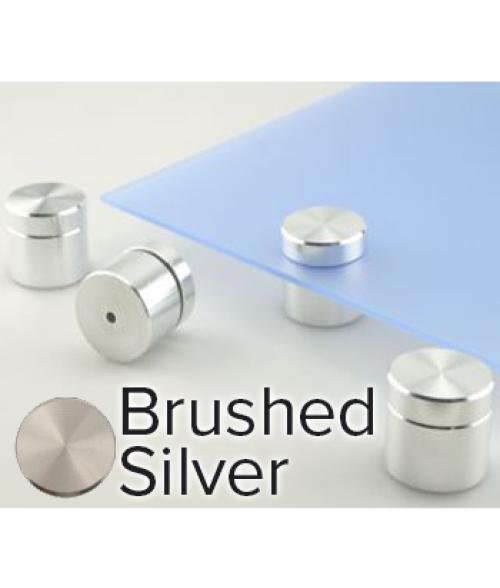 "Rowmark Metro Brushed Silver Stand-Offs (1.5"" Diameter 1"" Barrel Length)"