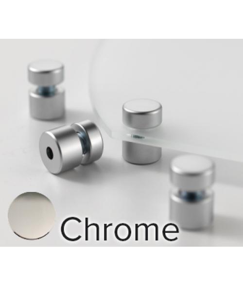"Rowmark Metro Chrome Stand-Offs (.59"" Diameter .39"" Barrel Length)"