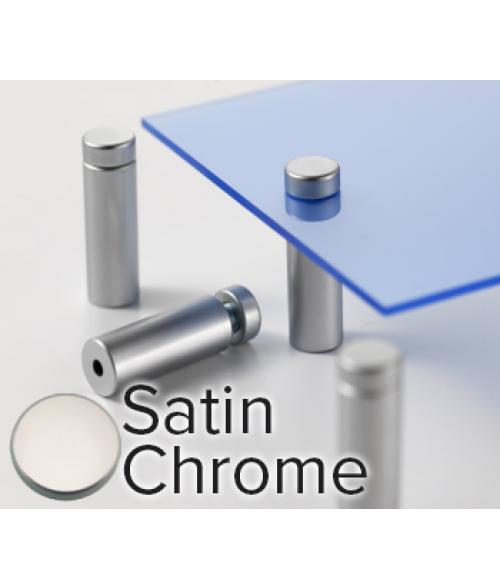 "Rowmark Metro Satin Chrome Stand-Offs (.59"" Diameter 1.57"" Barrel Length)"