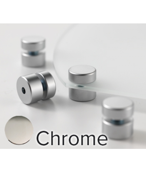 "Rowmark Metro Chrome Stand-Offs (.75"" Diameter .39"" Barrel Length)"