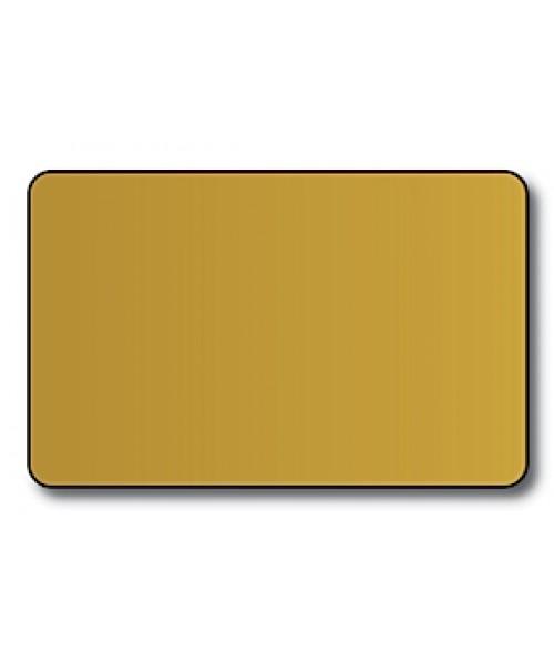 "DCS Gold CR80 .030"" Print Receptive Blank PVC Card"