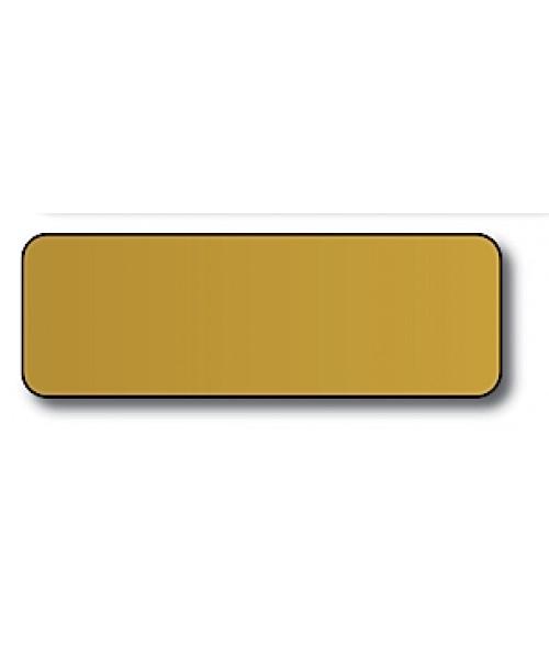 "DCS Gold 1"" x 3"" .060"" Print Receptive Blank PVC Card"