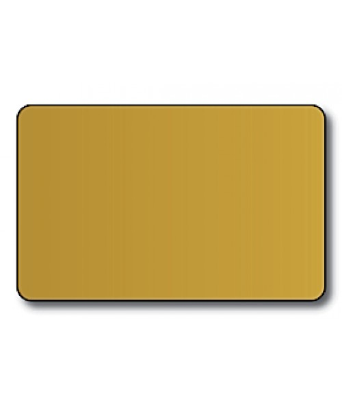 "DCS Gold CR80 .060"" Print Receptive Blank PVC Card"