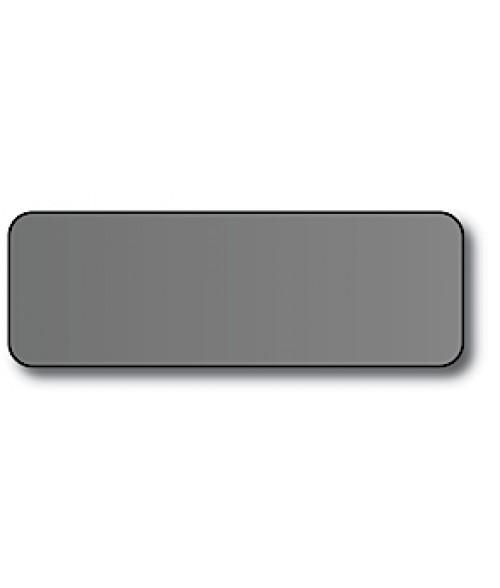"DCS Silver 1"" x 3"" .060"" Print Receptive Blank PVC Card"