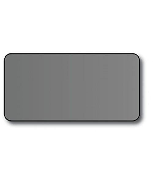 "DCS Silver 1.5"" x 3"" .060"" Print Receptive Blank PVC Card"
