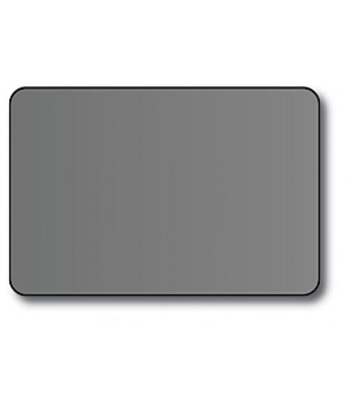 "DCS Silver 2"" x 3"" .060"" Print Receptive Blank PVC Card"