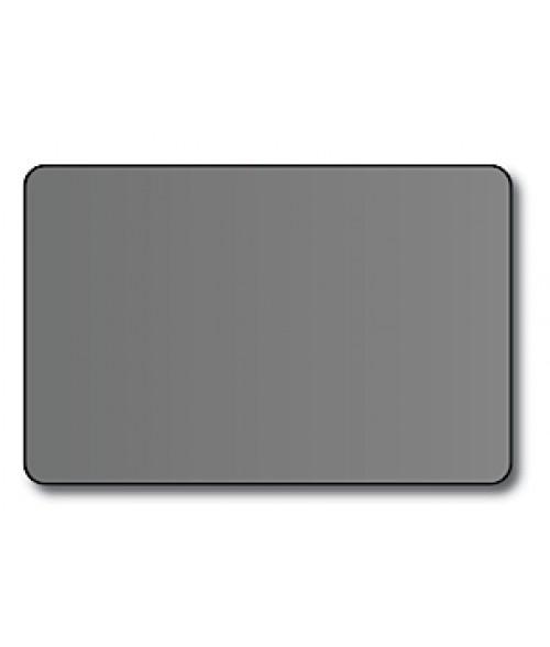 "DCS Silver 2.5"" x 3.7"" .060"" Print Receptive Blank PVC Card"