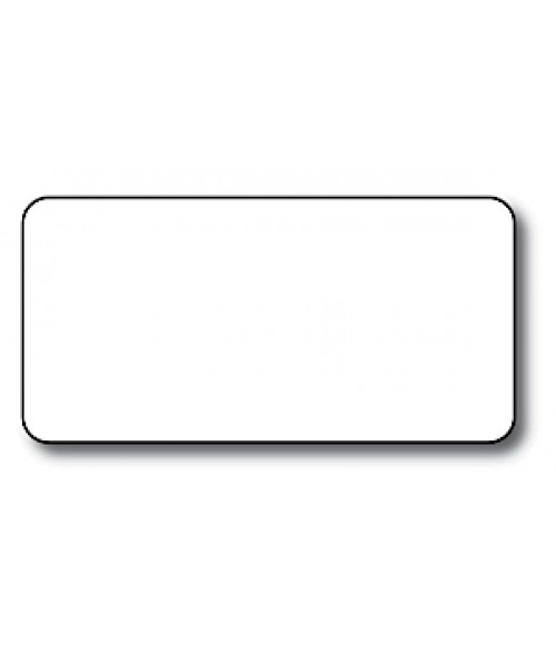 "DCS White 1.5"" x 3"" .060"" Print Receptive Blank PVC Card"