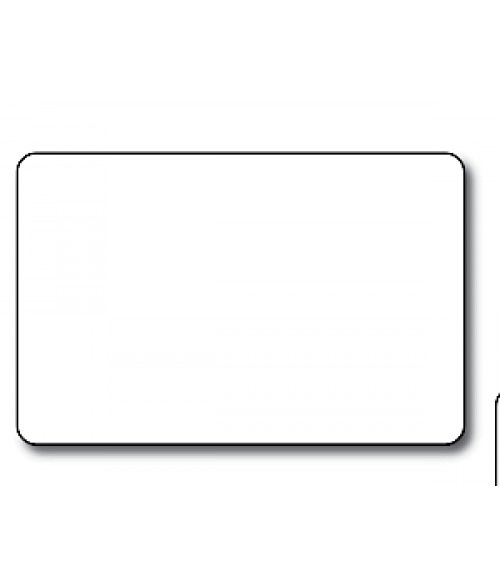"DCS White 2.5"" x 3.7"" .060"" Print Receptive Blank PVC Card"