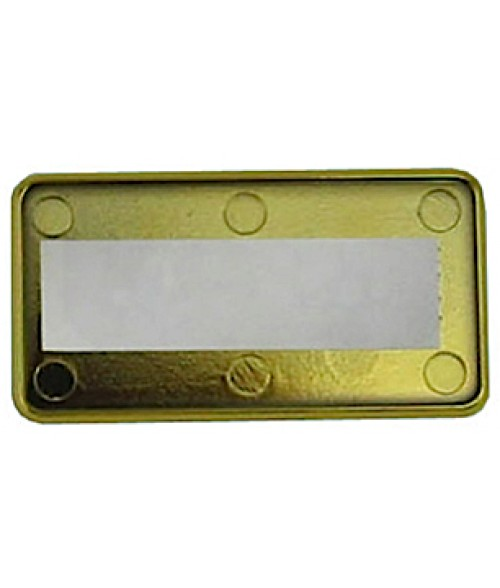 "DCS Gold 1-1/2"" x 3"" Badge Holder for .030"" Thick Material"