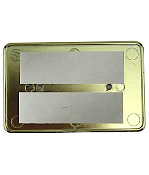 "DCS Gold 2-1/8"" x 3-3/8"" CR-80 Badge Holder for .030"" Thick Material"
