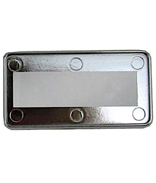 "DCS Silver 1-1/2"" x 3"" Badge Holder for .030"" Thick Material"