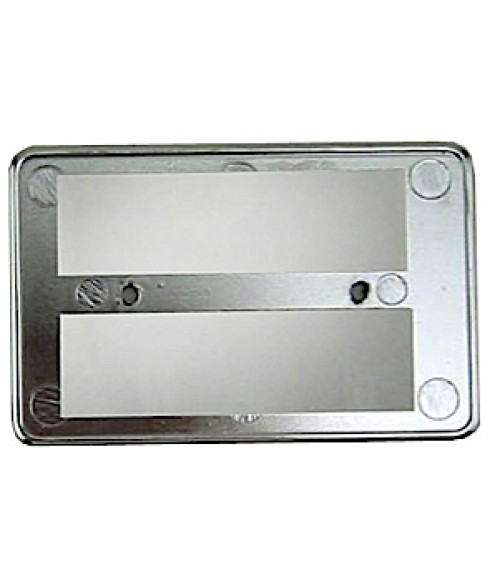 "DCS Silver 2-1/8"" x 3-3/8"" CR-80 Badge Holder for .030"" Thick Material"