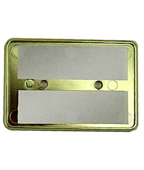 "DCS Gold 2"" x 3"" Badge Holder for .060"" Thick Material"