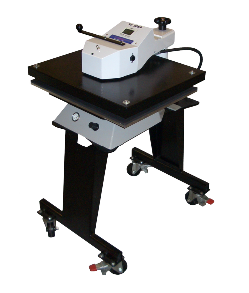 GeoKnight Automatic Jumbo Digital Swinger DK25SP Air-Operated Swing-Away Heat Press with Stand