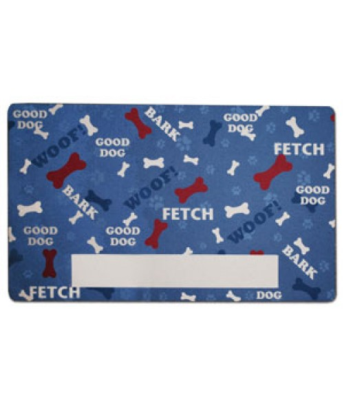 "12"" x 20"" Pre-Printed Pet Mat (Dog Mat)"