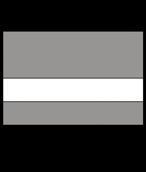 "IPI Euro Color Matte Grey Flannel/White 1/16"" Engraving Plastic (Quarter Sheet)"