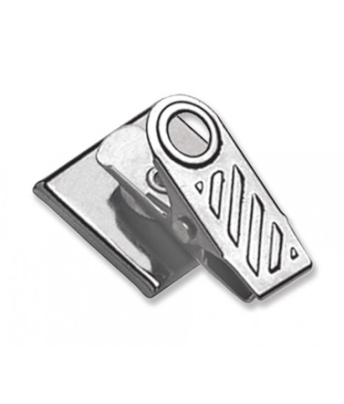 Swivel Bulldog Clip Economy Badge Finding with Adhesive Back