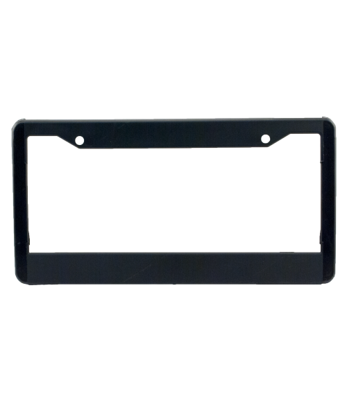 Black Plastic License Plate Frame