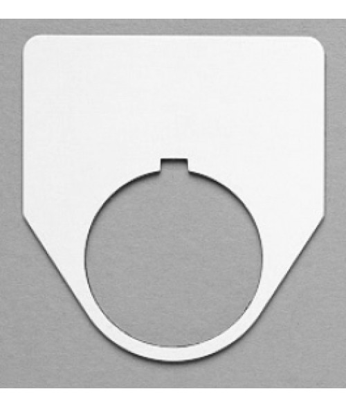 "Satin White/Black 2-3/16"" x 2-1/16"" Plastic Push Button Plate with 1-7/32"" Hole"