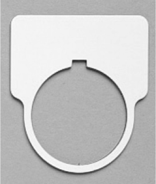 "Satin White/Black 1-15/16"" x 1-3/4"" Plastic Push Button Plate with 1-7/32"" Hole"