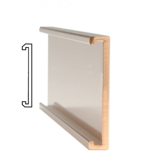 "JRS Polished Rose Gold #103 Wall Bracket (1"" x 6"" x 1/16"" Slot)"
