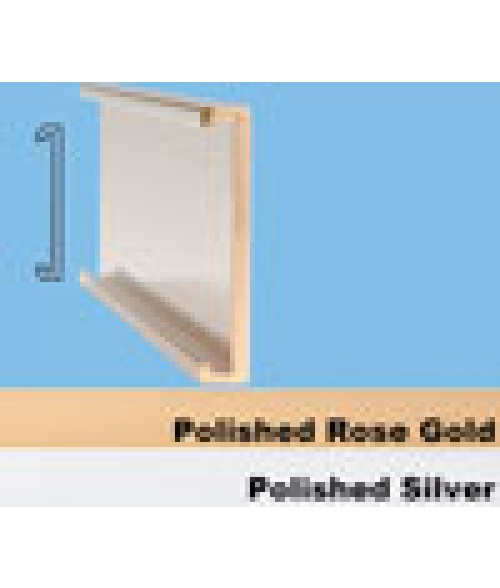 "JRS Polished Silver #103 Wall Bracket (1"" x 8"" x 1/16"" Slot)"