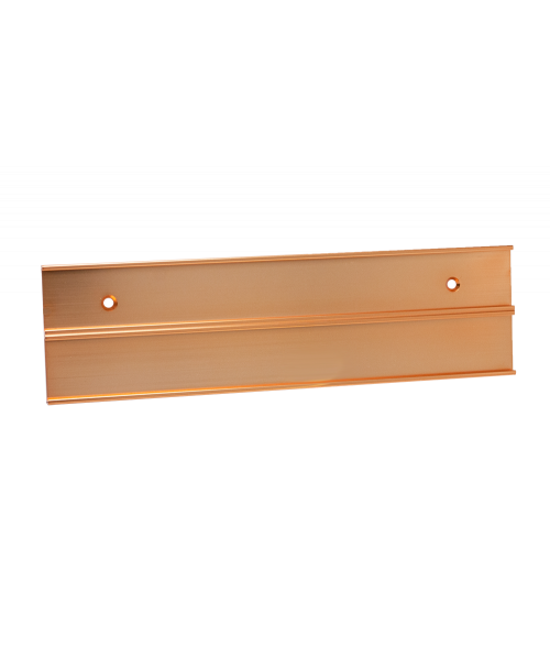 "JRS Polished Rose Gold #104 Multiple Wall Bracket (Two 1"" x 6"" x 1/16"" Slots)"