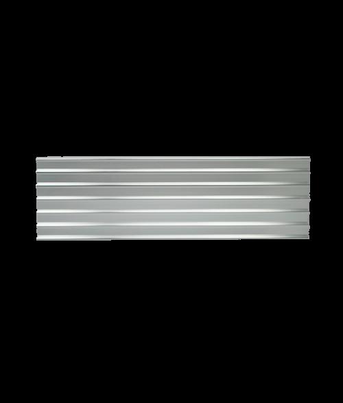 "JRS Polished Silver #202 Multiple Wall Bracket (Six 1/2"" x 10"" x 1/16"" Slots)"