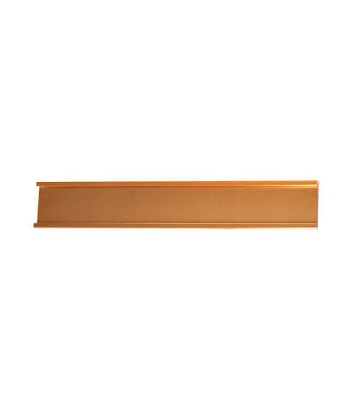 "JRS Polished Rose Gold 1"" x 36"" #28 Wall Holder for 1/16"" Thick Material"
