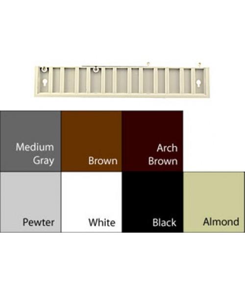 """JRS Designer2 Frame Black 2"""" x 12"""" Expandable Plastic Frame End Section"""