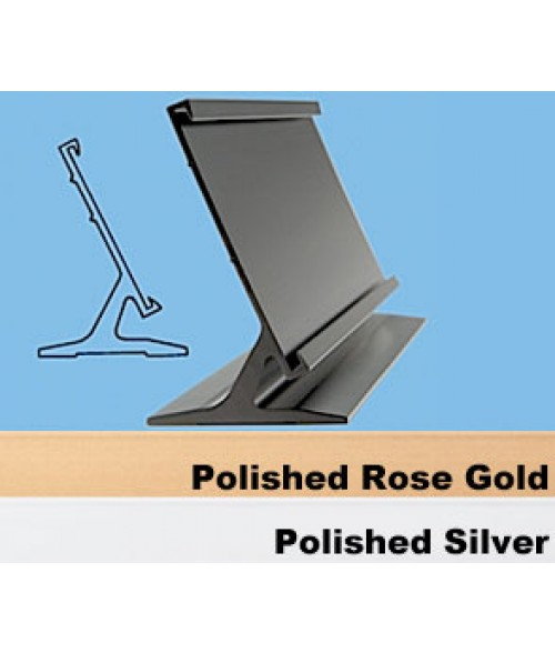 "JRS Polished Rose Gold 1-1/2"" x 8"" #31 Desk Holder for 1/16"" Thick Material"