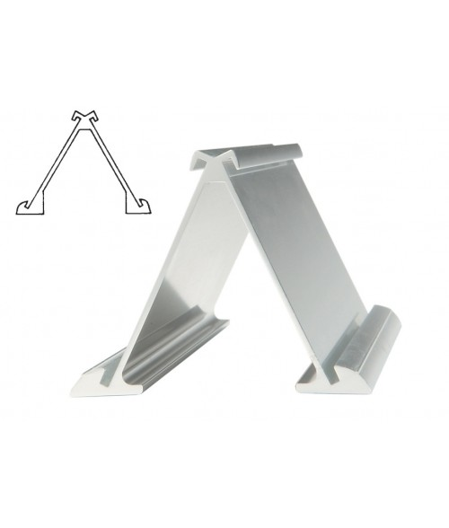 """JRS Polished Silver #33 Multiple Sign Holder (Two 2"""" x 10"""" x 1/16"""" Slots)"""