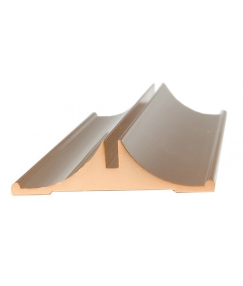 "JRS Polished Rose Gold 12"" #35 Desk Base with 1/16"" Slot"